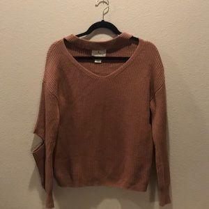 Anthropologie Ruby Moon Open Elbow Sweater